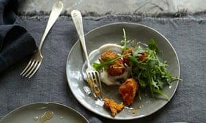 10 best squash: Butternut squash fritter with ricotta and lemon honey