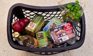 A basketful of high-protein food