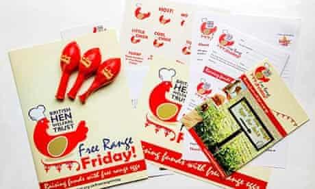 The British Hen Welfare Trust's Free Range Friday publicity material