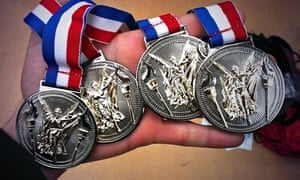 The medal haul for the victorious Centurion Ultra team