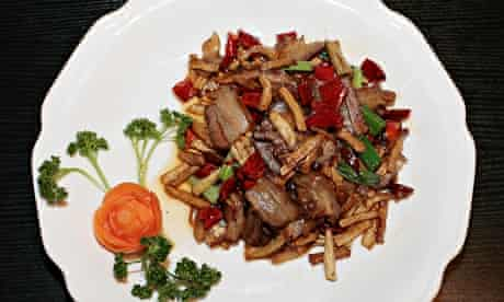 Stir-fried preserved pork with dried radish at Local Friends
