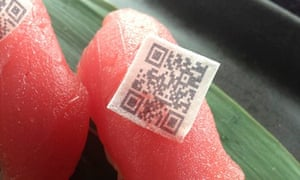 Edible QR code at Harney Sushi