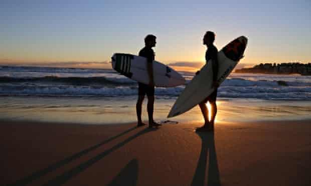Surfers in Out in the Line-up
