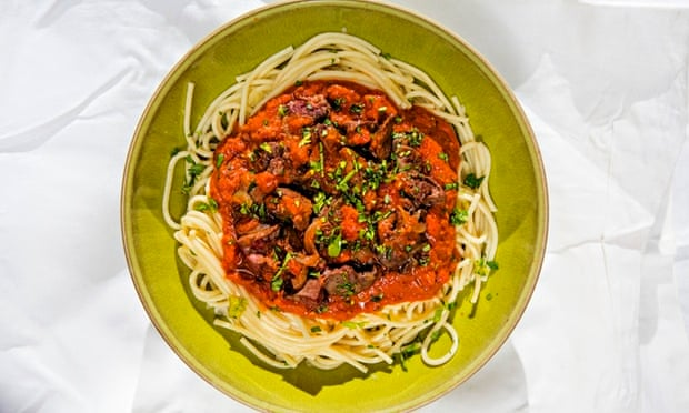 Jack Monroes Chicken Liver Spaghetti Bolognese Recipe Life And