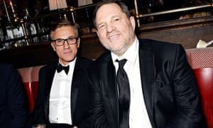 Christoph Waltz and Harvey Weinstein at the Weinstein Company/Pathé Bafta party