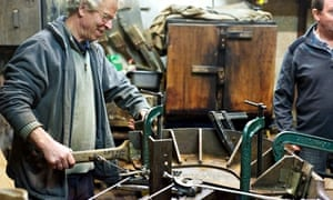 The workshop at oak furniture makers Gaze Burvill