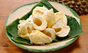 Peeled durians