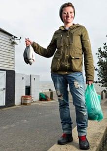 Jack Monroe holding fish