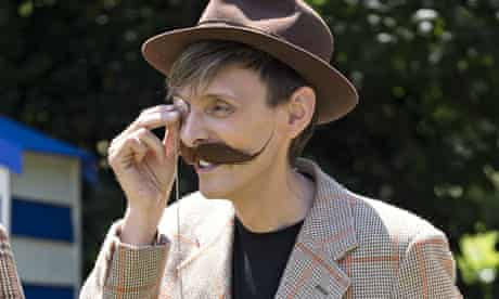 A hipster wearing a monocle at the Chap Olympiad