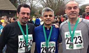 Sadiq Khan with David Cohen and Dr Tom