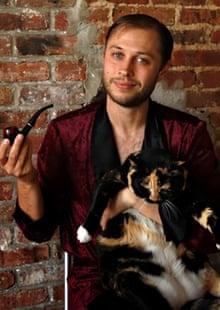 Jack Shepherd and his cat Princess