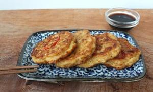 Bindaetteok, or Korean pancakes