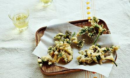 Parsley tempura
