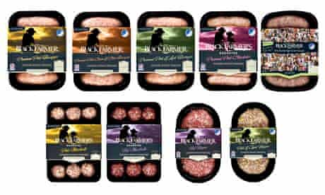 The Black Farmer gluten-free sausages, meatballs and burgers