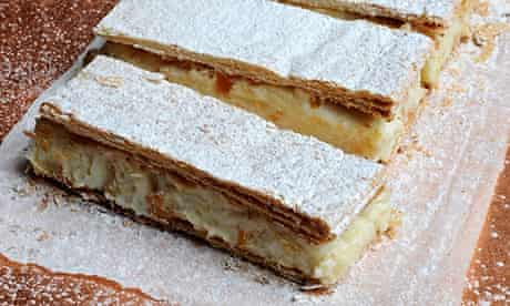 Ruby Ricotta Semolina PastrySlices