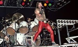 Bruce Dickinson performing in 1983