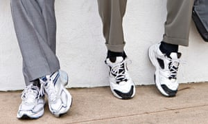 Delagates in trainers