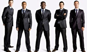 Chelsea players in Armani suits