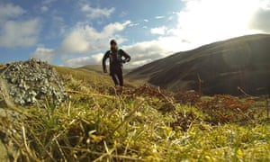 Paul Giblin training in the Scottish Highlands