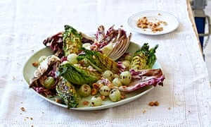 10 best Chargrilled gem lettuce, radicchio and gooseberries with hazelnuts