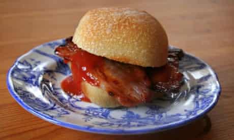 Homemade bacon sandwich