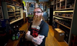 Craft beer brewer Jamie Hancock at Beermoth in Manchester
