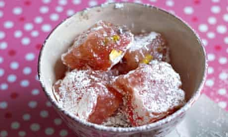 Hope and Greenwood's rose and pistachio turkish delight.