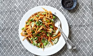 10 best 9 Ginger, citrus and black sesame carrots with edamame and avocado