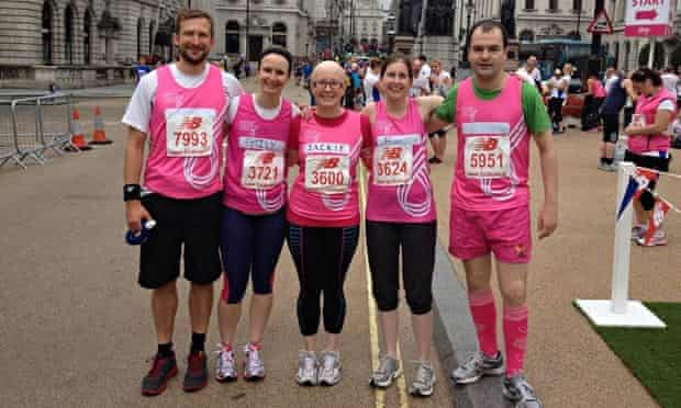 Jackie Scully and friends at the Bupa 10k