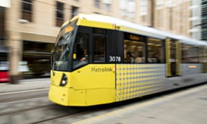 Trams in Manchester city centre