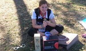 Finishers treats at the end of the Marathon du Medoc.