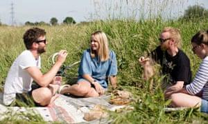 Rosie Birkett's picnic with friends