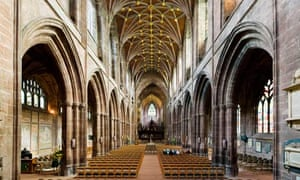 The nave of Chester Cathedral, Chester, Cheshire, England, UK