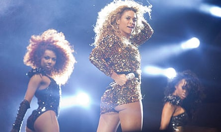 Beyoncé Knowles performs on the Pyramid stage at Glastonbury