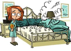 Illustration of broken bed springs