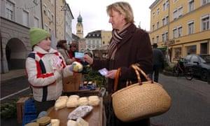 chiemgauer exchanged at market