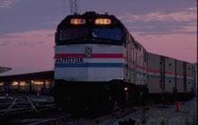 Train in sunset