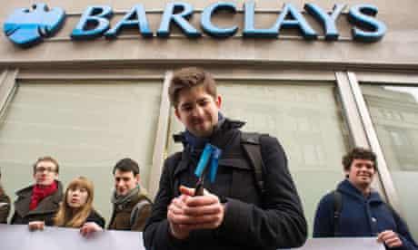 Barclays customer cutting card