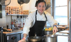 Pastry chef Will Torrent in his kitchen