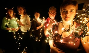 Women protesting at Christmas