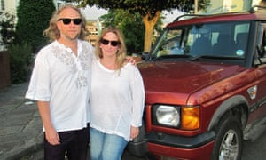Andrew and Tamara Vinall with their Land Rover Discovery