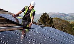 Fitting solar pv panels to house roof in Wales