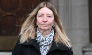 Pamela Curran, who is involved in a dispute with her ex-partner Brian  Collins over ownership of their former home and a kennels business, leaving  the Court ...