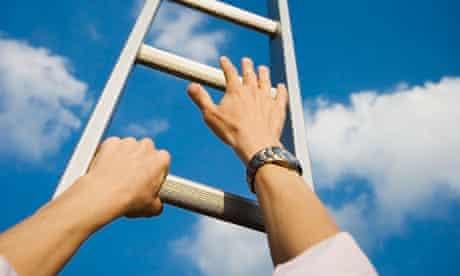 hands on ladder