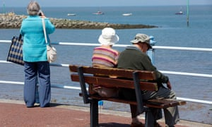 pensioners at seaside