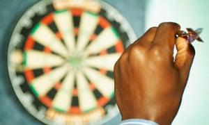 Hand aiming dart