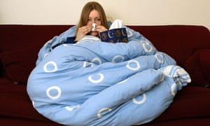 woman wrapped in duvet