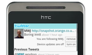 Orange plans to integrate Twitter into its phones' social media functions