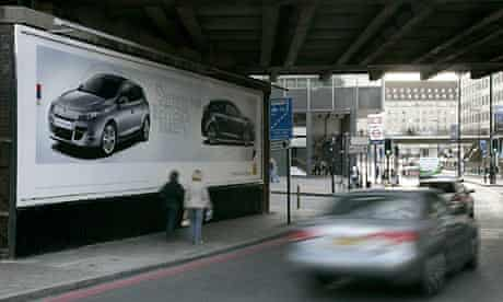 Outdoor advertising near London's Waterloo station