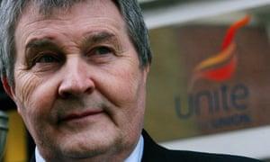 Derek Simpson, joint general secretary of Unite trade union